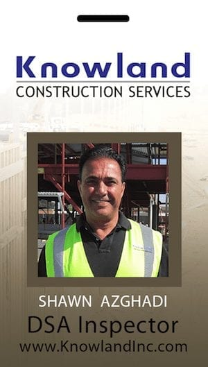 construction inspector photo ID tag
