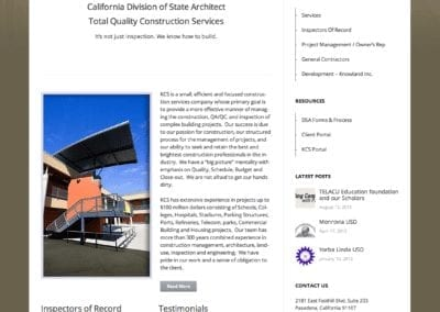 construction website design home page